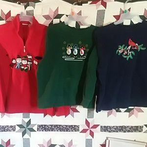 3 Christmas SWEATSHIRTS